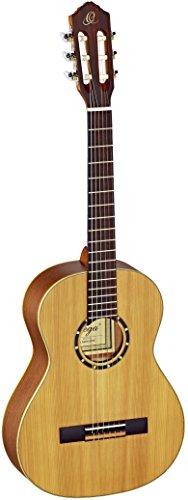 Ortega Guitars R122-3/4 Konzertgitarre in 3/4 Größe natur im seidenmatten Finish mit hochwertigem Gigbag