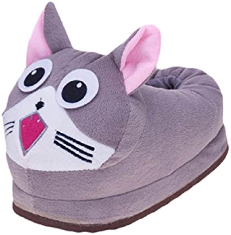 YOUJIA Lustige Plüsch Hausschuhe Warme weissshe Pantoffeln Kuschel Tierhausschuhe Flauschige Winter Tierpantoffeln