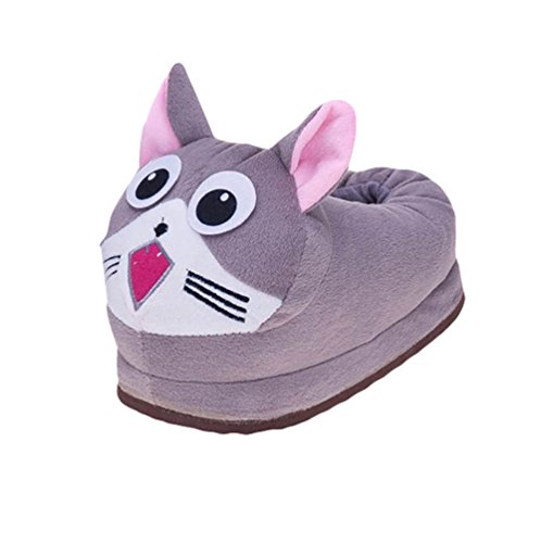 YOUJIA Casa Pantofole di Peluche Animali Ciabatte Morbido Invernali Calde Scarpe Bambino, Gatto Bambini CN28-32