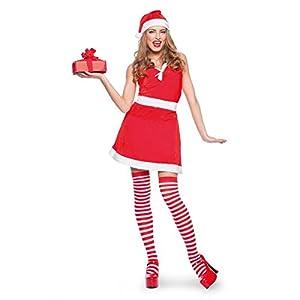 Folat 63334-Sexy de mujer de Navidad Disfraz Para Mujer