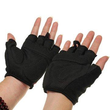 Qepae Adults Cycling Gloves Half Finger-2XL-Blue