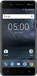 Nokia 5 Smartphone (13,2 cm (5,2 Zoll), 16GB, 13 Megapixel Kamera, Android 7.0, Dual Sim) satin-silber/weiß, version 2017