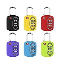 QZ® 6 Pcs Customs Password Padlock Travel Luggage Zinc Alloy Office Drawer Password Anti-theft Lock (color : Yellow)