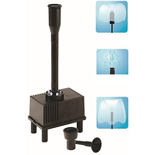 elegantstunning Fisch Tank Teich LED Licht Tauchpumpe mit 3 Spray Düse für Aquarium Hydroponik mit Outdoor Brunnen Wasserpumpe