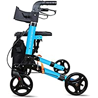 Andador Para Ancianos De 4 Ruedas | Aluminio Ultraligero | Plegable | Con Frenos De Mano