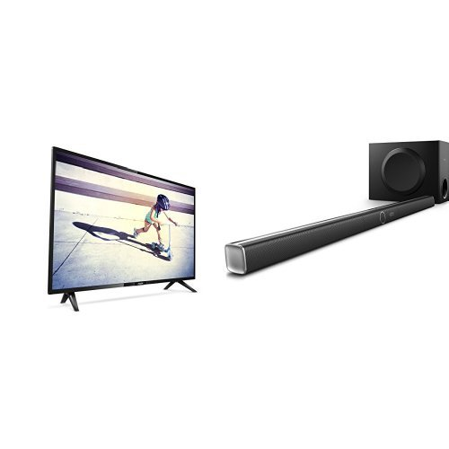 Philips 32PHT4112/05 32-Inch HD Ready LED TV with Freeview HD and Philips HTL5160B/12 3.1 Streaming-Soundbar