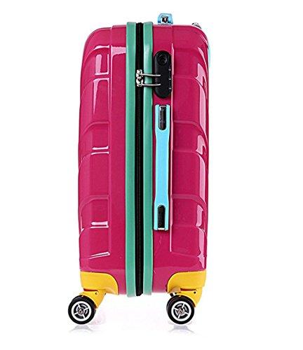 Xiuxiandianju Coperture di rotella ABS PC grano borsa da viaggio con cerniera carrello (20 pollici) , black , 20 inch Red