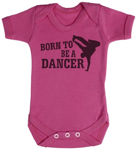 TRS - Born To Be A Break Dancer Body bébé - cadeaux de bébé 12-18 Mois Rose