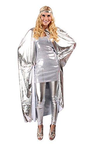 Disko Pailletten-Kleid in Silber | Größe: 36-38 | 20er Jahre Faschingskostüm für Damen | 1920er Charleston-Verkleidung | Tänzerin Abendkleid für Motto-Partys oder Karneval (1920 Tänzerin Kostüm)