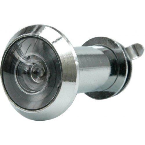 77921-Die Tür Pio mit Klappe 35-50mm Loch 200'silber