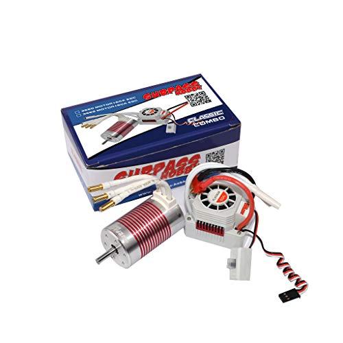 Faironly Platinum Set 3660 3300KV/3800kv Brushless Motor mit 60A ESC Wasserdicht für 1/10 RC PKW LKW Kv3800+60a (Pkw-motoren)