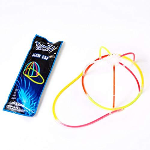 Zoylink 5 Sätze Glow Cap Glow Sticks Dekorative DIY Party Glühen Hut Gastgeschenke (Glow Stick Diy)