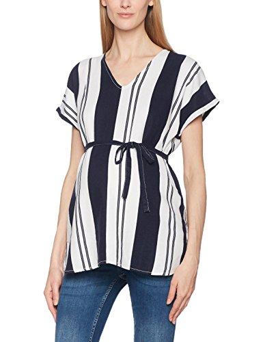 Leinen Woven Shirt (MAMALICIOUS Damen MLBEACH S/S Woven Top, Weiß (Snow White), 36 (Herstellergröße: S))