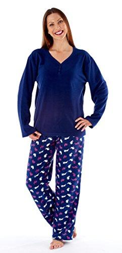 i-smalls Ltd - Ensemble de pyjama - Pyjama - Manches Longues - Femme Bleu - Bleu marine