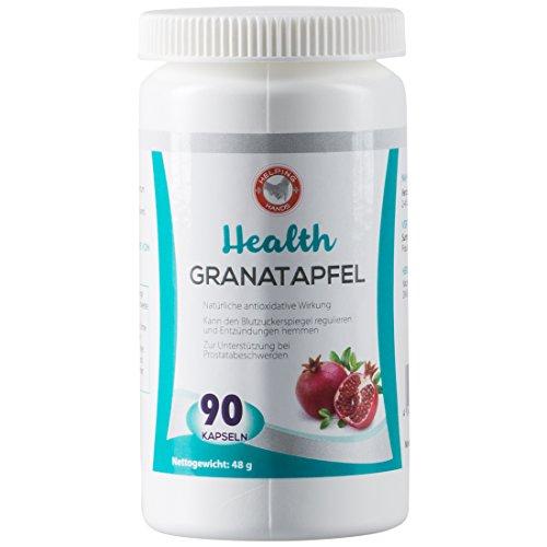 Helping Hands 90 Granatapfel Kapseln hochdosiert, Granatapfelextrakt bei Blasenentzündung, Prostatabeschwerden, zur Blutzuckerregulierung, pure natural Premium Qualität, Nahrungsergänzungsmittel
