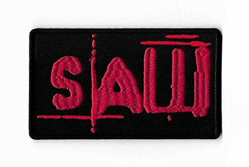 Schwert Patch Bestickt Eisen/Nähen auf Badge DIY Aufnäher Horror Film Saw Billy The Puppet Souvenir Puzzle Kramer Serie Kostüm