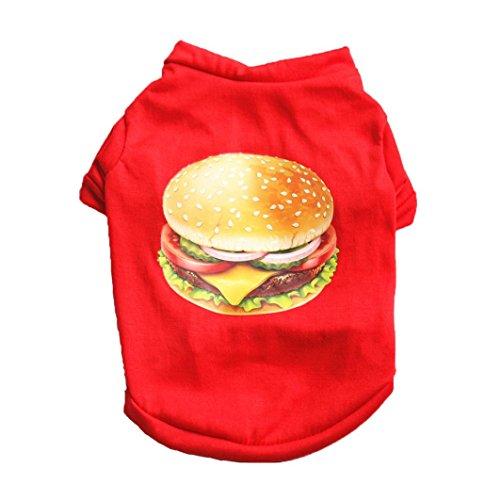 ter Katze Kleine Hunde/Welpen Baumwolle Weste T-shirt Haustier Kleidung Bekleidung Kostüme (Hamburger Hund Kostüm)