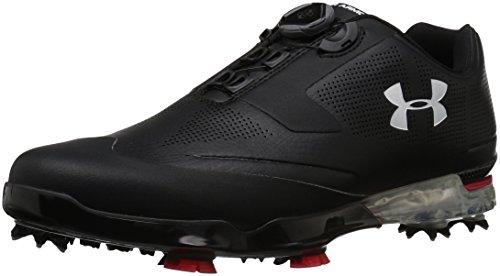 Under Armour Herren Men's Tour Tips BOA Golf Shoes Black (001)/Red, 44 EU