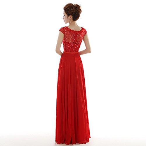 Robe de soirée longue Rouge