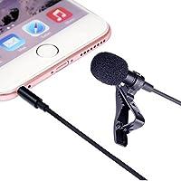 Lavalier micrófono de solapa,Ourlife clip-on micrófono omnidireccional para grabar Youtube/video/entrevista,lavalier Mic para iOS Android y dispositivos Windows (Jack Hole--No)