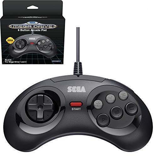 Retro- Bit Sega -  MD Mini 6- B USB,  Negro [Sega Megadrive 32X]
