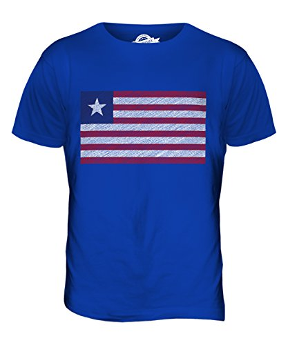 CandyMix Liberia Kritzelte Flagge Herren T Shirt Königsblau