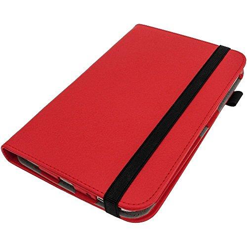 igadgitz Premium 360° Rotazione Rosso Ecopelle Custodia Cover per Samsung Galaxy Tab 3 8.0' SM-T310 Con Supporto Multi-Angle + Auto Sleep Wake + Pellicola