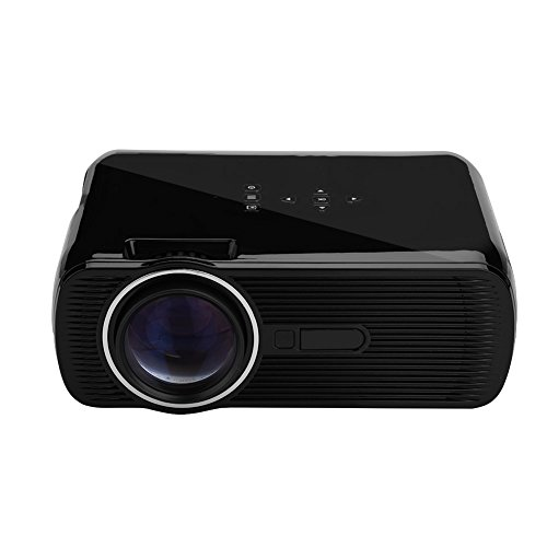 Wal front LED Video Projector 1500 Lumens Mini 1080P Home Threater Projector Supports Support PC Laptop USB HDMI SD VGA AV Input with 130  Big Display for Home Theater Entertainment  Black