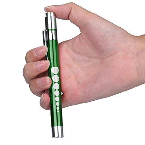 Hansee Lampe de poche en forme de stylo pour premier secours, pour médecins et infirmiers aux urgences S Green