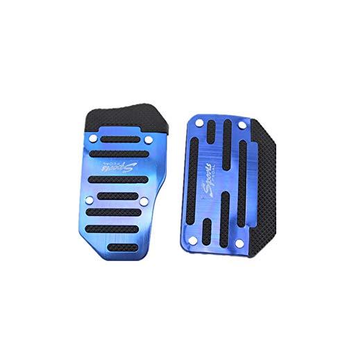 Fliyeong Auto Metall Pedal Bremsbeschleuniger Pedal Anti Slip Pedal Einfache Installation für Automatikgetriebe Autos 2 Teile/satz