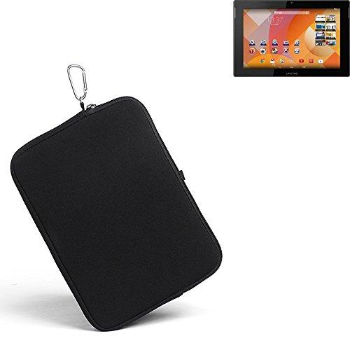 K-S-Trade® für Medion Lifetab S10334 Neopren Hülle Schutzhülle Neoprenhülle Tablethülle Tabletcase Tablet Schutz Gürtel Tasche Case Sleeve Business schwarz für Medion Lifetab S10334