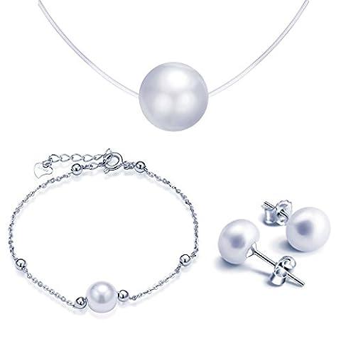 Yumilok Bijoux ensemble de perle parures pour femme fille collier