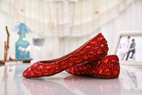 Kevin Fashion , Ballet femme Rouge - Red/Rhinestone