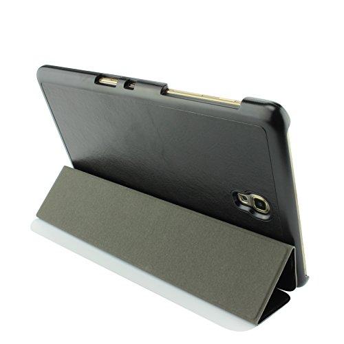 Urcover® Samsung Galaxy Tab 8.4 Smart Cover Case in Schwarz [ mit Standfunktion & Sleep Wake ] Schutzhülle Etui Schale Samsung Galaxy Tab 8.4