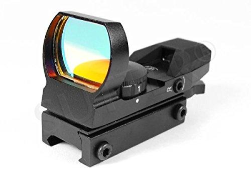 Multi Dot Viseur point rouge & Red Dot Sight T4 (rouge/vert) | pour rails de prisme (11-13mm) | De serrage rapide | Lunette de visée chasse & Airsoft