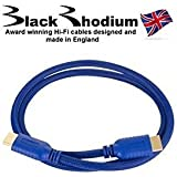BLACK RHODIUM SAPPHIRE Cavo HDMI con ETHERNET v1.4 3D 1m 332041 MADE IN UK OFFERTA