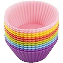 ncient Mini–moldes de silicona para cupcakes magdalenas Gateau molde para tuercas cumpleaños, tarde de boda, Gastronomía Baking postre–5cm de diámetro (12pcs)