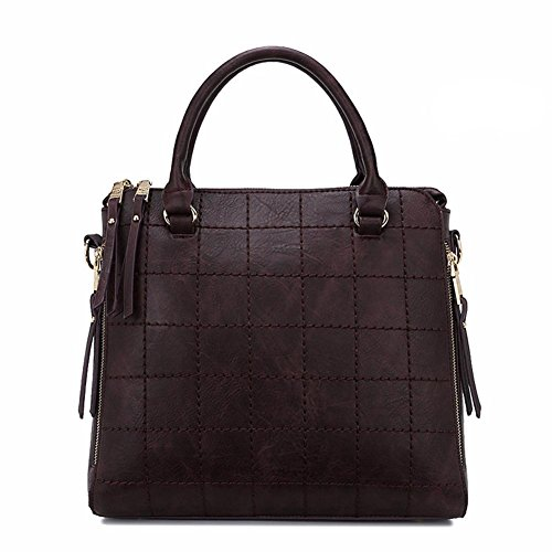 GBT Frau tragbare Schultertasche große Tasche Mode-Handtaschen Messenger Purple