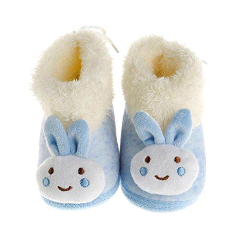 OverDose Säugling Baby Schuhe Gehen Kleinkind Mädchen Jungen Krippe Schuhe Weiche Baumwolle Stiefel (0-12 Monate) Blau