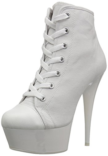 Full Zip Heels (Pleaser Women DELIGHT-600SK-02/WCA/NW Boots)