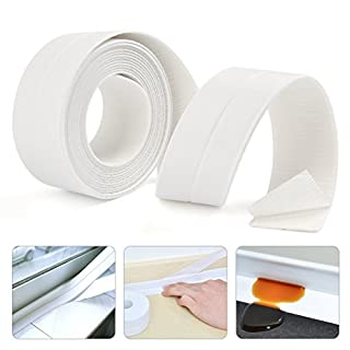 FOCCTS PE Self Adhesive Bathtub Caulk Strip Sealant Waterproof Sealing Tape for Bathroom Shower Toilet Kitchen 38mm X 3.35M