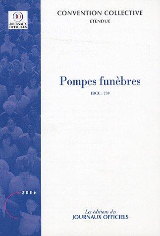 Pompes funèbres - Brochure 3269 - IDCC:759