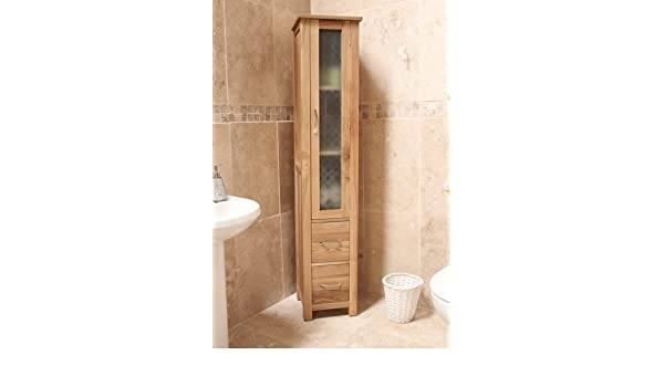 baumhaus mobel oak closed bathroom unit tall amazon co uk kitchen home