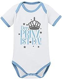 Mikalino Babybody Der Prinz ist da! kurzarm ringer