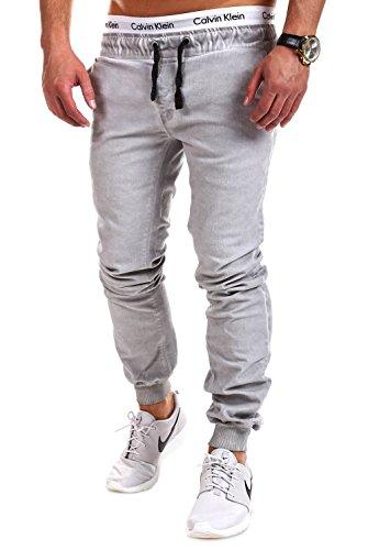 Tazzio Chino-Jogging style vintage pantalon 515 Gris