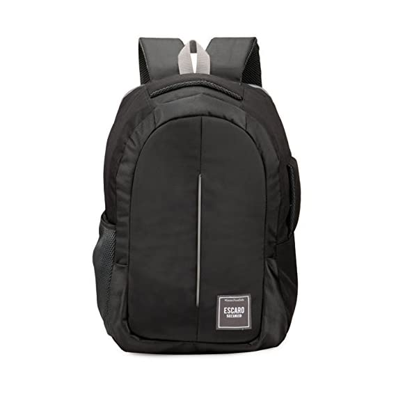 Chris & Kate Black 34L Anti-Theft Backpack | Multipurpose Business Trip Bag | Laptop Backpack | Briefcase | Fits 17 Inch Laptop | Premium Range of Backpacks by C&K Bags in Association with Escaro