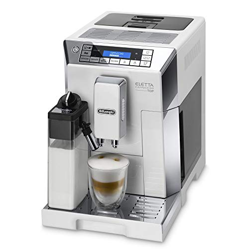 De'Longhi Eletta Cappuccino, Fully Automatic Bean to Cup Machine, Espresso, Coffee Maker, ECAM 45.760.W, White thumbnail