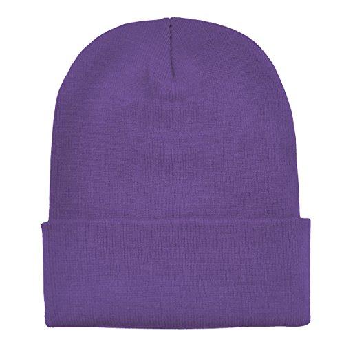 Imagen de dondon gorro de invierno gorro de abrigo diseño clásico moderno y suave lila alternativa