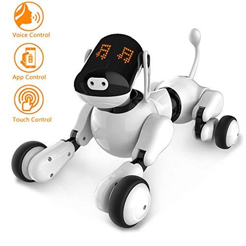 Jouet pour Chien Robot Intelligent, Jouets Rechargeables Programmables Intelligents Interactifs de Électronique Chiot de Robot...