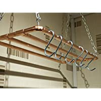 Copper hanging pot rack 1000mm x 300mm